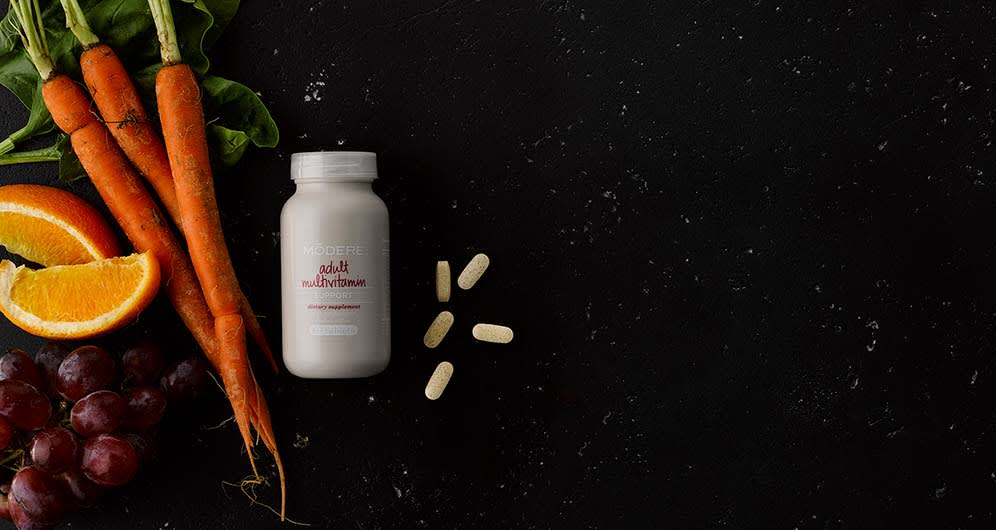 Modere multivitamin provides nutrients that support metabolism of carbohydrates, fats & proteins.