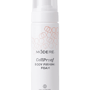 Modere CellProof Body Firming Foam features patented BioCell Collagen® CG, a naturally co-existing matrix of hyaluronic acid and collagen peptides that are Bio-Optimized™ for maximum effectiveness.